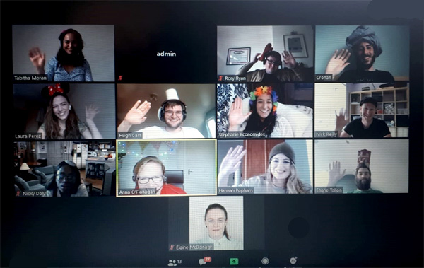 Remote team on Zoom
